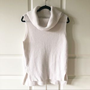 Lou & Grey Off White Cowl Neck Sleeveless Sweater